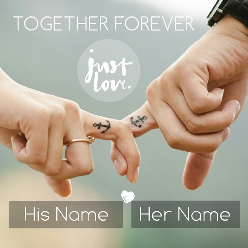 Together Forever Just Love Couple Greeting With Name