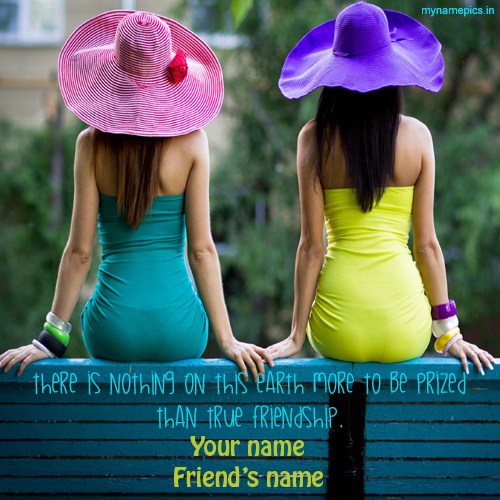 Write your name on true friends profile picture online