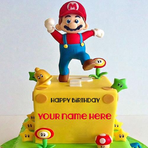 Cartoon Birthday Cake Images With Name : Happy Birthday Aladdin and Genie Kids Cake With Name