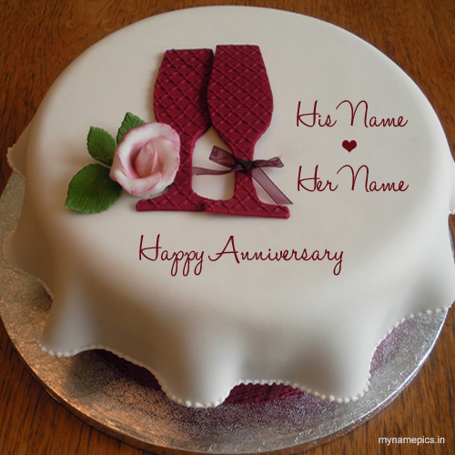 Write your name on Wedding Anniversary Cake profile pic