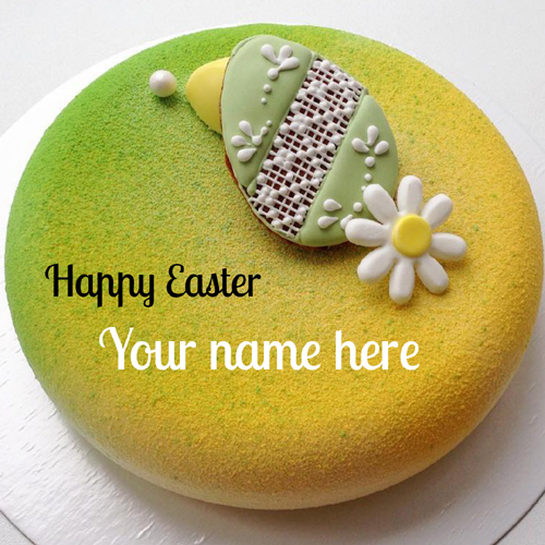 Easter Celebration Special Beautiful Cake With Name