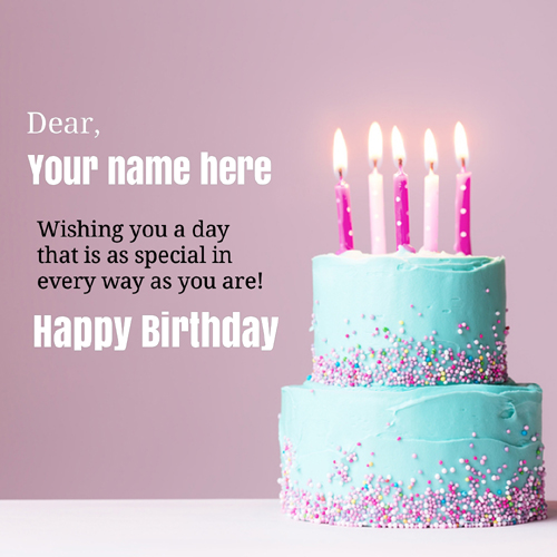 Special Birthday Celebration Elegant Greeting With Name
