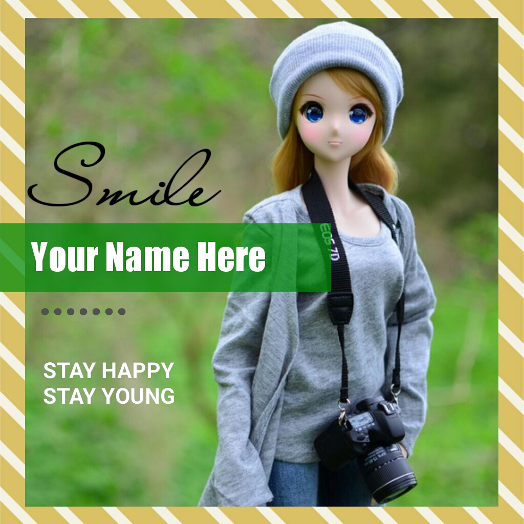 Cute and Happy Smiling Doll Greeting With Your Name