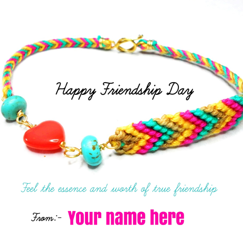 Happy Friendship Day Wishes Elegant Quote With Name