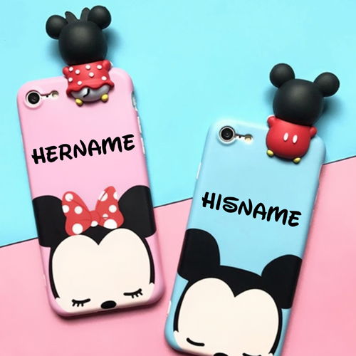 Beautiful Mickey and Minnie Mouse Mobile Case With Name