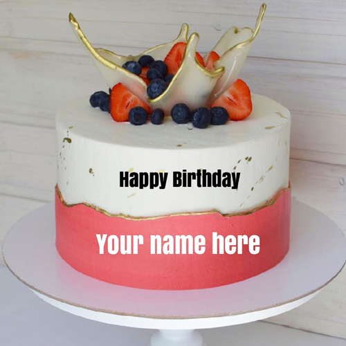 Cute and Lovely Decorated Birthday Cake With Lover Name