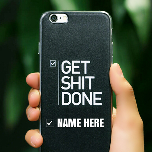 Print Name on Awesome Mobile Case With Funny Message