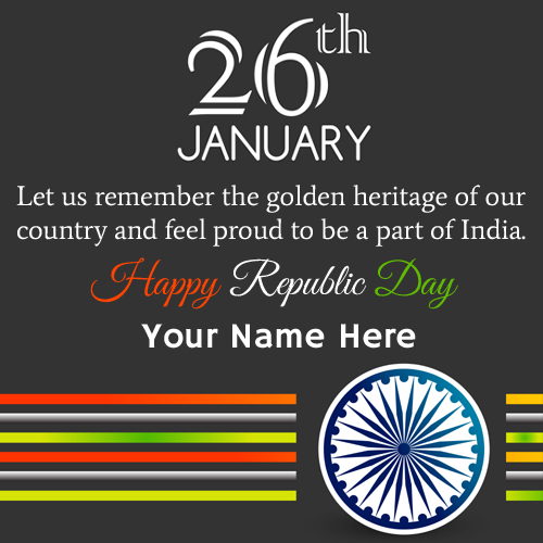 Republic Day of India Quote Greeting With Company Name