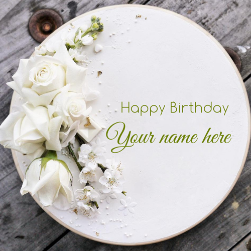 Beautiful Buttercream Name Birthday Cake With Flowers