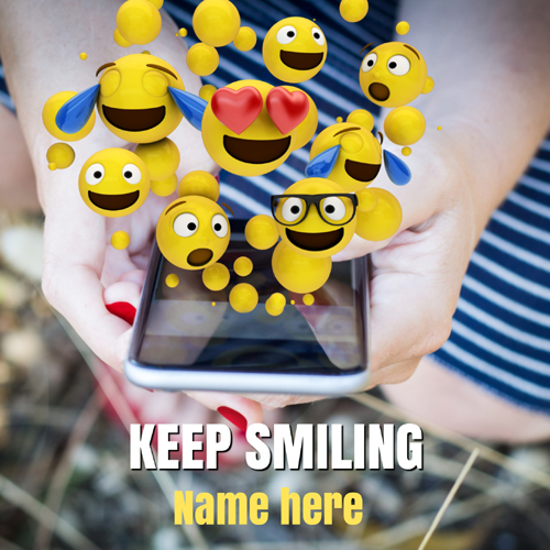 Keep Smiling Motivational Quote Greeting Card With Name