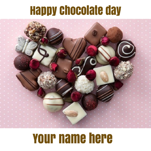 Happy Chocolate Day 2020 Love Greeting With Name