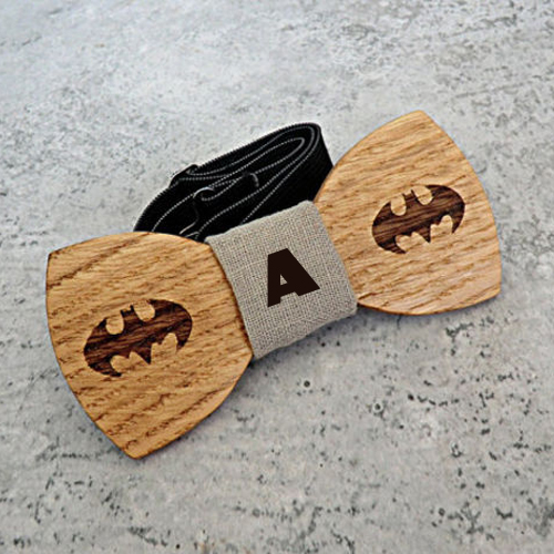 Unique Handcrafted Wooden Bow Tie With Your Alphabet