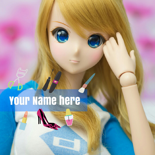 Trendy and Stylish Doll Whatsapp Greeting With Name