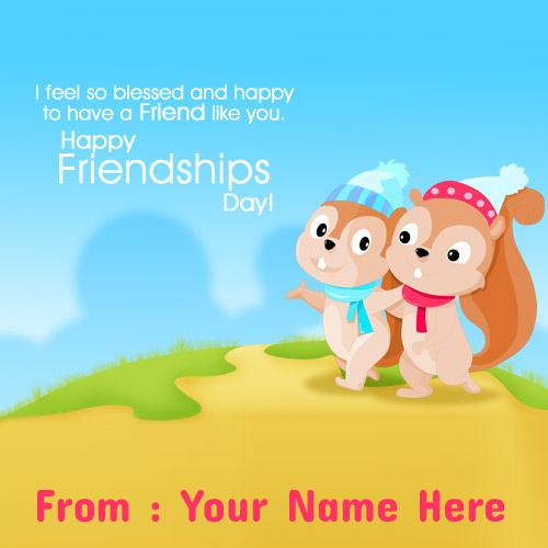 Write Your Name On Happy Friendship Day Profile Picture