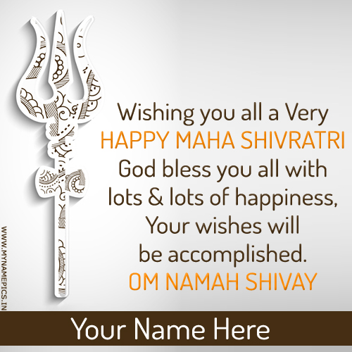 Happy Maha Shivratri Wishes Quote Pics With Name