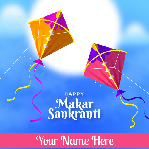 Social Media Greeting For Makar Sankranti With Name