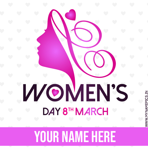 Womens Day Wishes Beautiful Greeting Card With Name