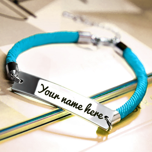 Create Designer Bar Bracelet For Friend With Your Name