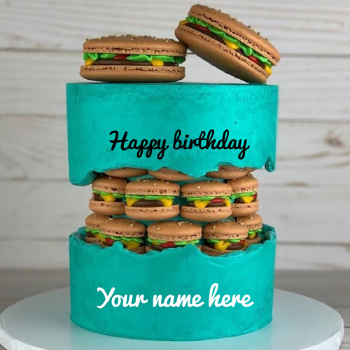 Beautiful Double Layer Donuts Cake With Your Name