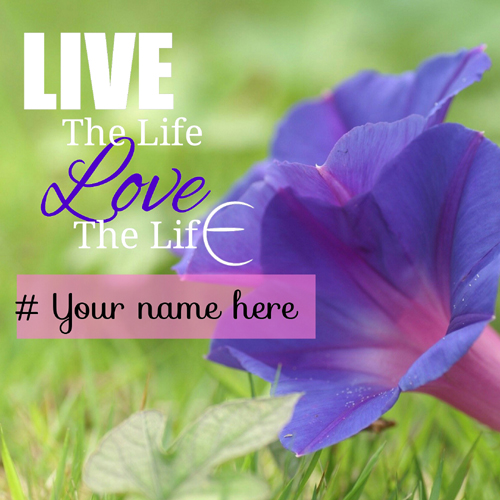 Live The Life Love The Life Quote Greeting With Name