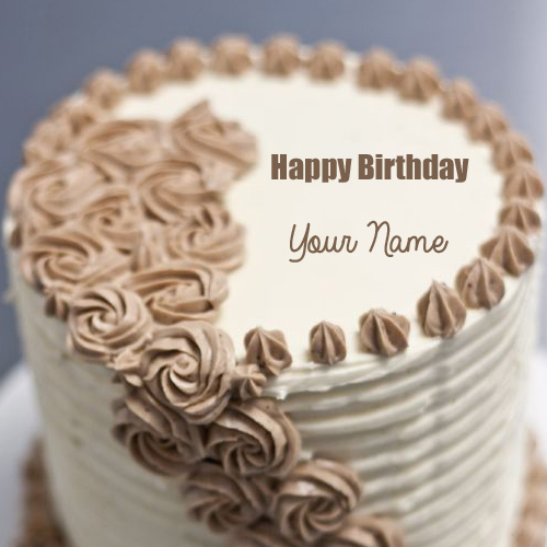 Happy Birthday Buttercream Cake With Your Name