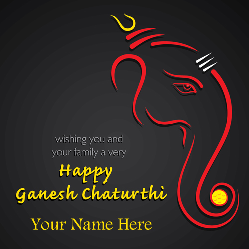 Lord Ganesh Chaturthi Whatspp Status With Friend Name