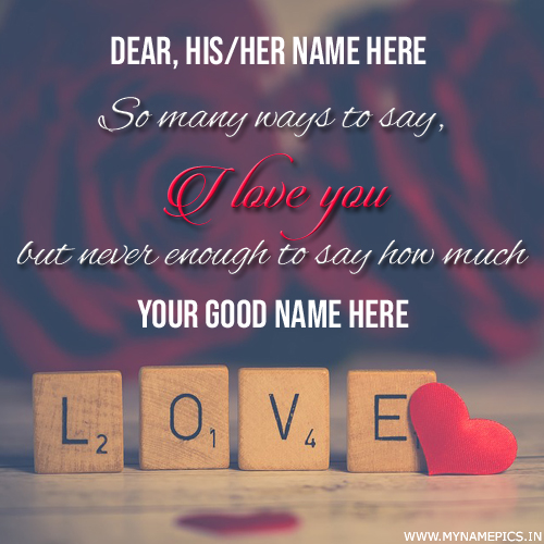 Romantic I Love You Propose Quote Greeting With Name