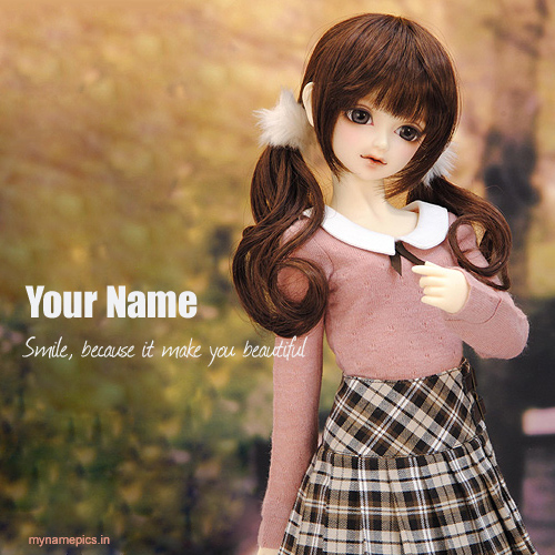 Write your name on cute stylish doll picture