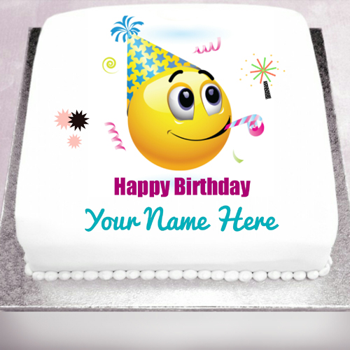 Happy Birthday Wishes Cute Party Smiley With Name
