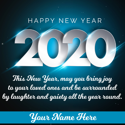 Happy New Year 2020 Greeting Card With Your Name