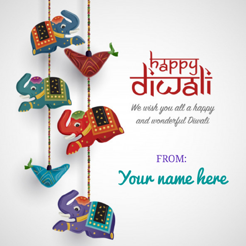 Diwali 2020 Festival Decoration Greeting With Name
