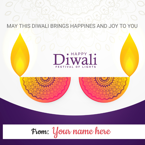 Have a Joyful Diwali Festival Wishes Greeting With Name