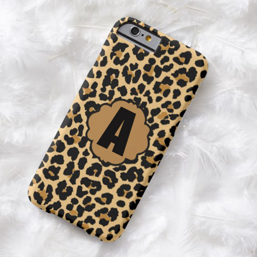 Leopard Spot Gold Glitter iPhone Case Pics With Name