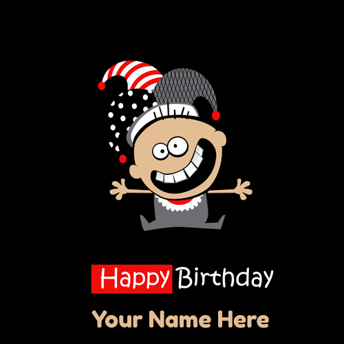 Happy Birthday Joker Funny Smiling Greeting With Name