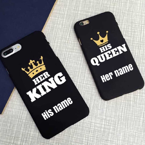 Beautiful Mobile Case For Love Couple With Custom Name