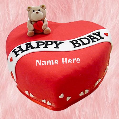 happy birthday cakes with custom names happy birthday heart cake
