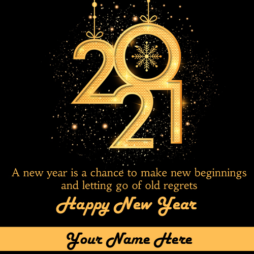 Have a Golden New Year 2021 Greeting With Name